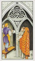 Three of Pentacles Universal Rider Waite