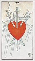Three of Swords Universal Rider Waite