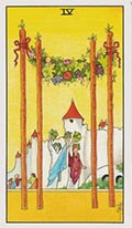 Four of Wands Universal Rider Waite