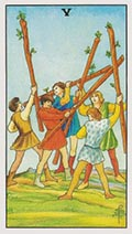 Five of Wands Universal Rider Waite