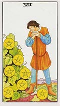 Seven of Pentacles Universal Rider Waite