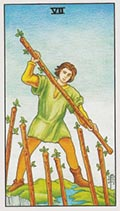 Seven of Wands Universal Rider Waite
