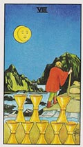 Eight of Cups Universal Rider Waite