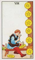 Eight of Pentacles Universal Rider Waite