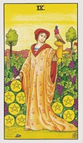 Nine of Pentacles Universal Rider Waite