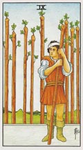 Nine of Wands Universal Rider Waite