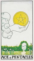 Ace of Pentacles Universal Rider Waite