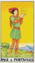 Page of Pentacles Universal Rider Waite