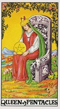 Queen of Pentacles Universal Rider Waite