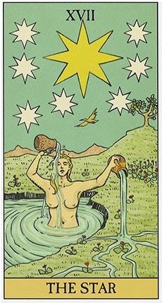 the star after tarot deck